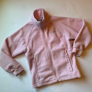 Columbia Fleece zip front jacket sz 7/8